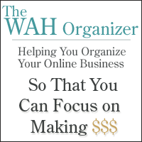 The WAh Organizer Planning tool for your vonline business